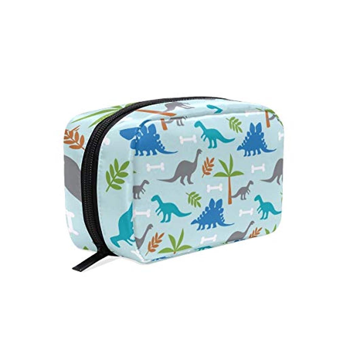 キャプション乱れ愚かな可愛い恐竜 化粧ポーチ メイクポーチ 機能的 大容量 化粧品収納 小物入れ 普段使い 出張 旅行 メイク ブラシ バッグ 化粧バッグ