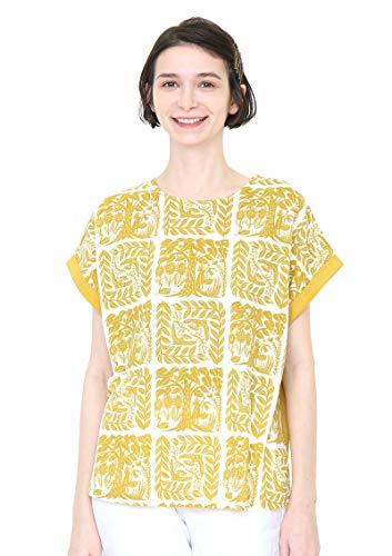 (グラニフ) graniph バック ボタン Tシャツ (マイガーデン) (イエロー) レディース Lady(F) (g14)