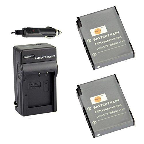 DSTE® アクセサリーキット Kodak KLIC-7002 互換 カメラ バッテリー 2個+充電器キット 対応機種 EasyShare V530 V603 V530 Zoom V603 Zoom