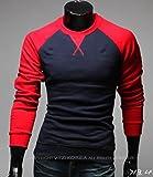 kimurea select ロンT メンズ 長袖 Tシャツ カットソー 大きい サイズ (Mサイズ, レッド)