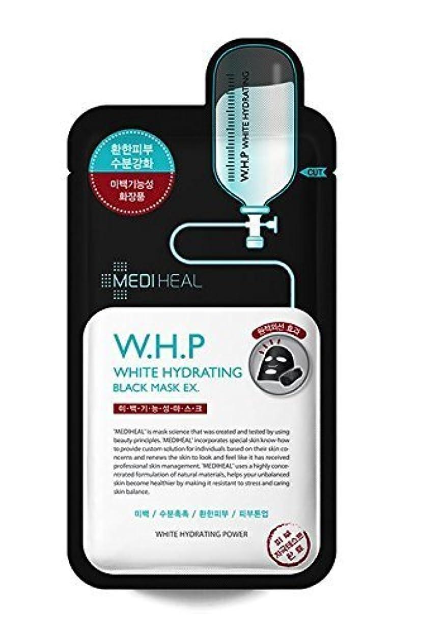 人事プロット軽蔑Mediheal 10の、w.h.p白水和ブラックマスクEX、25ミリリットル、パック [並行輸入品]