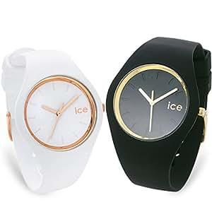 [アイスウォッチ]ICE-WATCH ICE-GLAM ペアウォッチ ICEGLBKUS-ICEGLWRGSS