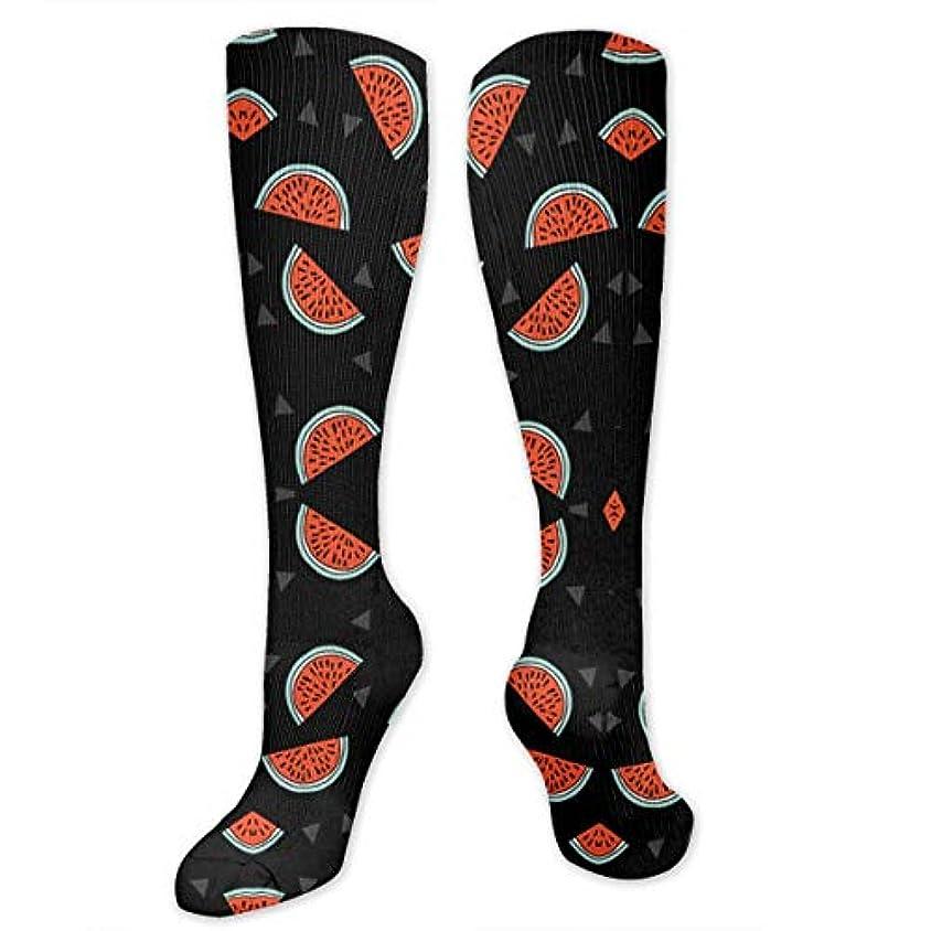 彼女保全師匠靴下,ストッキング,野生のジョーカー,実際,秋の本質,冬必須,サマーウェア&RBXAA Watermelons Black and Red Socks Women's Winter Cotton Long Tube Socks...