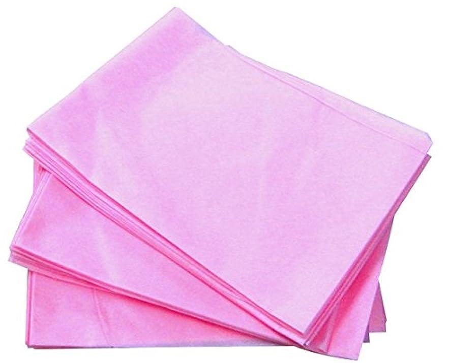 ピーブ石膏ふさわしい使い捨てシーツ?ディスポシーツ【非防水タイプ】(10枚入)/(75×175cm) (ピンク)