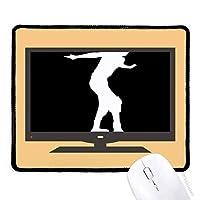 ブラック・ローラースケートスポーツのシルエット マウスパッド・ノンスリップゴムパッドのゲーム事務所
