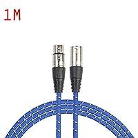 Busirde REXLIS 1 / 1.8 / 3/5/10/15 / 20M 3pin XLRオス - メスオーディオケーブルXLRマイク延長ワイヤーコード(マイクミキサーアンプ用)