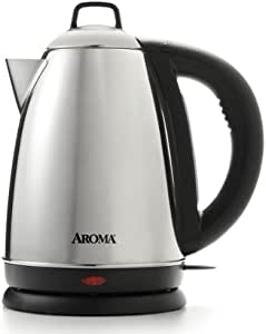 Aroma Housewares Hot H20 X-Press 1.5 Liter (6-Cup) Cordless Electric Water Kettle, Stainless Steel by Aroma Housewares