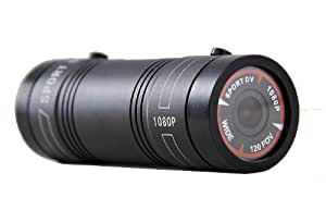 自在な取付けが可能!超小型ムービーカメラ 500万画素♪FULL HD1080P対応!最大60fps対応!バイク・自転車用ドライブレコーダースポーツカメラ FS-SDVF9