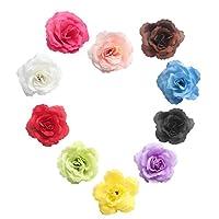 Baosity 人工造花 バラ 結婚式 装飾品 フラワー 花ボール作り 7cm 花部分のみ 写真撮影小物 多目的 装飾花 全11色10個 入り - 混合