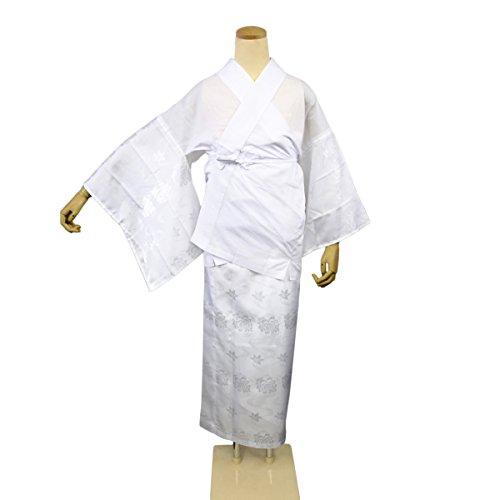 两个部分汗衫半颈圈Nagajuban接地图案聚酯(M / L尺寸) - 白色