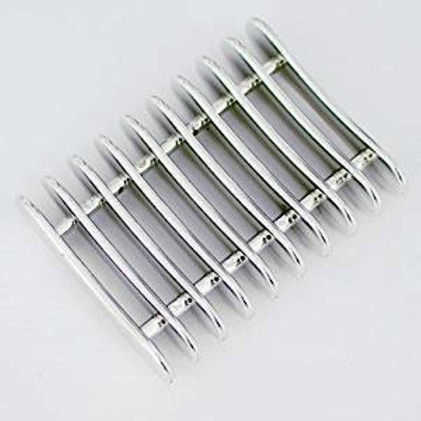 【アウトレット】ネイルブラシホルダー ブラシスタンド ジェルネイル筆置き ネイル用品  一部にメッキ剥がれあり(下地の白が少し見える程度で使用に問題はありません)