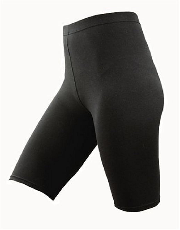 伝統的ハードリング弁護オーラ5分丈スパッツ(岩盤浴スパッツ) ブラック M