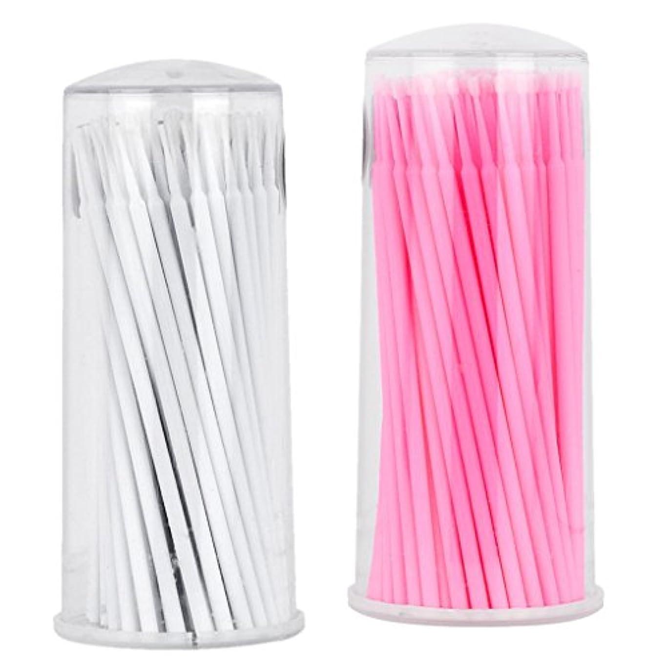 Perfk まつげブラシ スワブ 使い捨て アプリケータ 約200本入り マイクロブラシ 極細綿棒 タトゥー