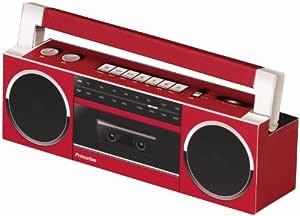 プリンストンテクノロジー 自分で作って聴く紙工作スピーカー(ラジオカセットレコーダー) PSP-NXT1