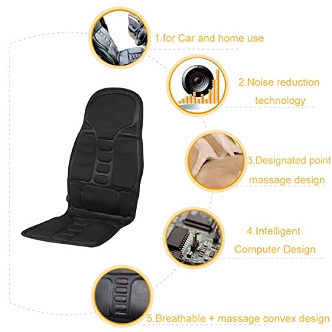 トーストきちんとした取り出すProfessional Car Household Office Full Body Massage Cushion Lumbar Heat Vibration Neck Back Massage Cushion Seat