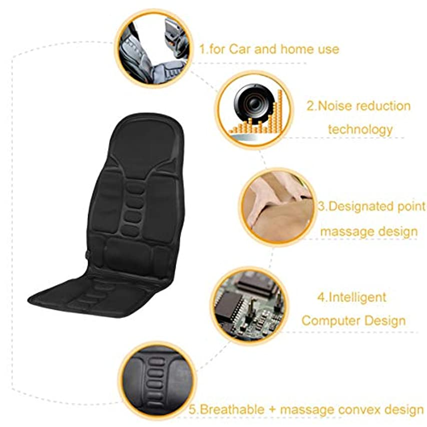 認識マニフェスト連想Professional Car Household Office Full Body Massage Cushion Lumbar Heat Vibration Neck Back Massage Cushion Seat
