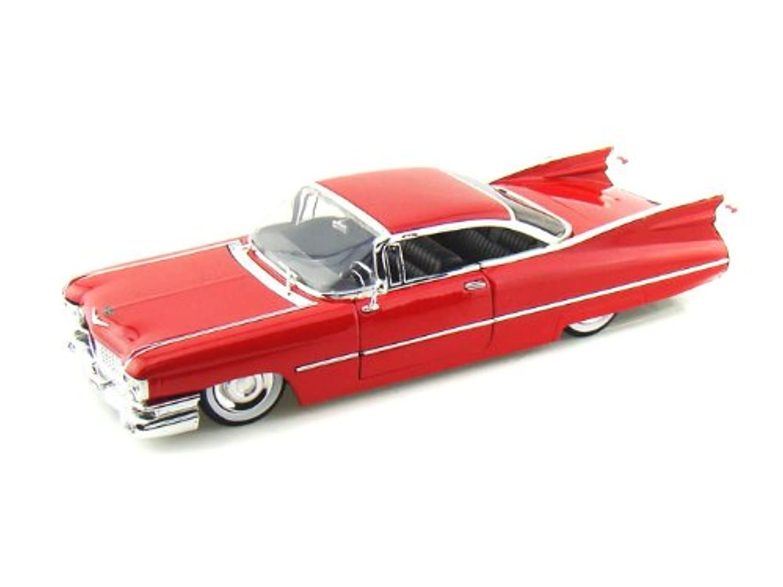 ダイキャストカー 1959 キャデラック クーペ ドゥビル レッド 1/24 (並行輸入品)