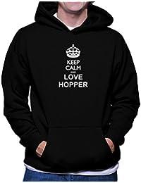 Keep calm and love Hopper フーディー