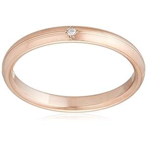 [ブルーム] BLOOM ダイヤモンド ステンレス ペアリング ピンクゴールドカラー