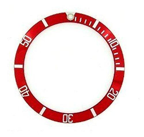 輸入王オリジナル サブマリーナ 用 ベゼルディスク 社外品 16610,16800 レッド/ホワイト r00