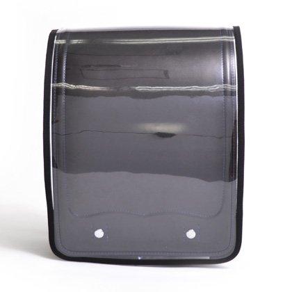 ワクワク通学 ランドセルカバー 透明 ・ クリアブラック 日本製 N4150200 男の子