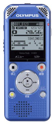 /  OLYMPUS ボイストレック V-801 LBL  ライトブルー 新開発のマイクを搭載したICレコーダー
