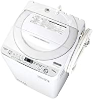 シャープ SHARP 全自動洗濯機 幅56.5cm(ボディ幅52.0cm) 7kg ステンレス穴なし槽 ホワイト系 ES-GE7D-W
