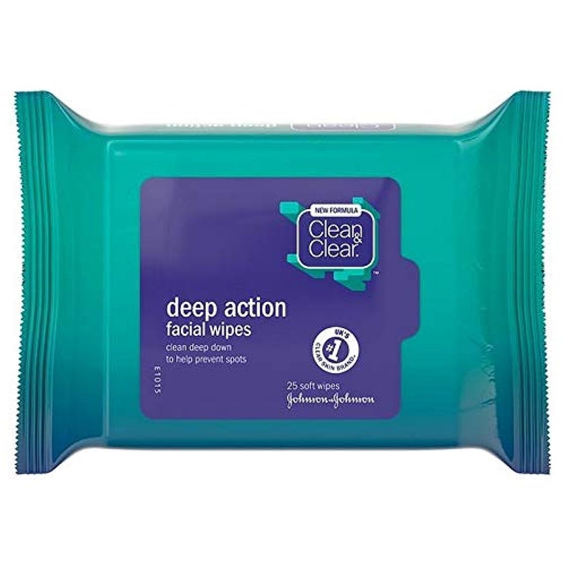 マンモスバクテリアトラフ[Clean & Clear ] クリーン&クリアな顔はパックあたり25ワイプ - Clean & Clear Face Wipes 25 per pack [並行輸入品]