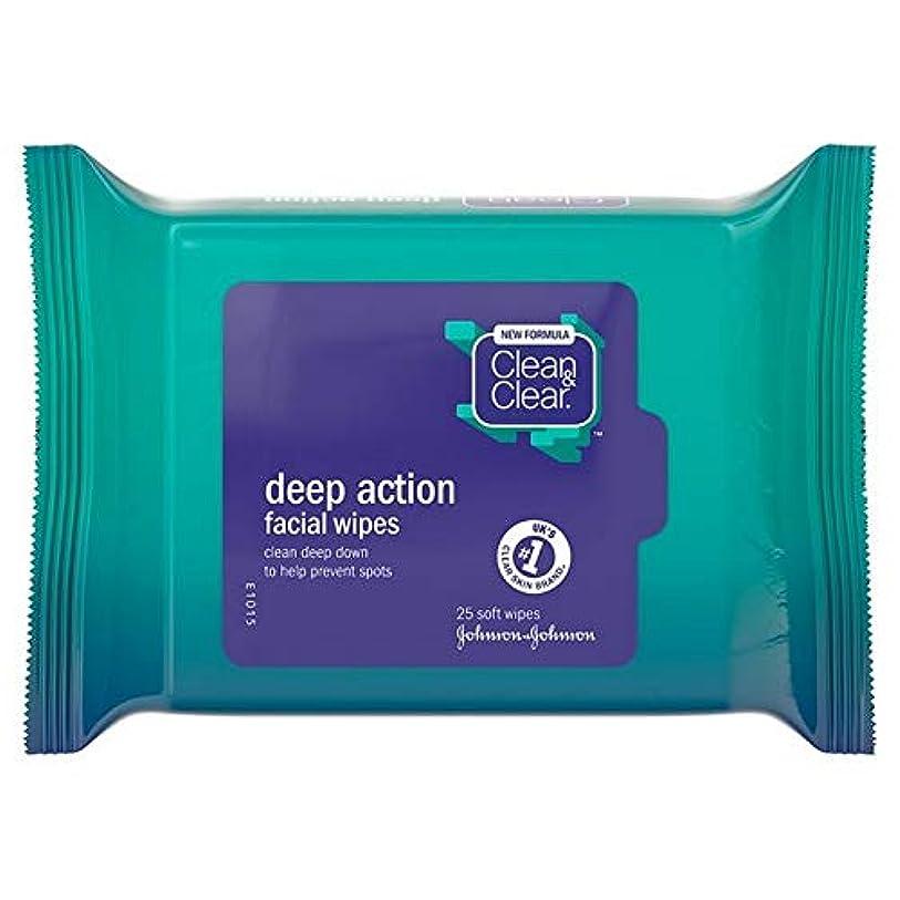 高揚した相対性理論達成する[Clean & Clear ] クリーン&クリアな顔はパックあたり25ワイプ - Clean & Clear Face Wipes 25 per pack [並行輸入品]
