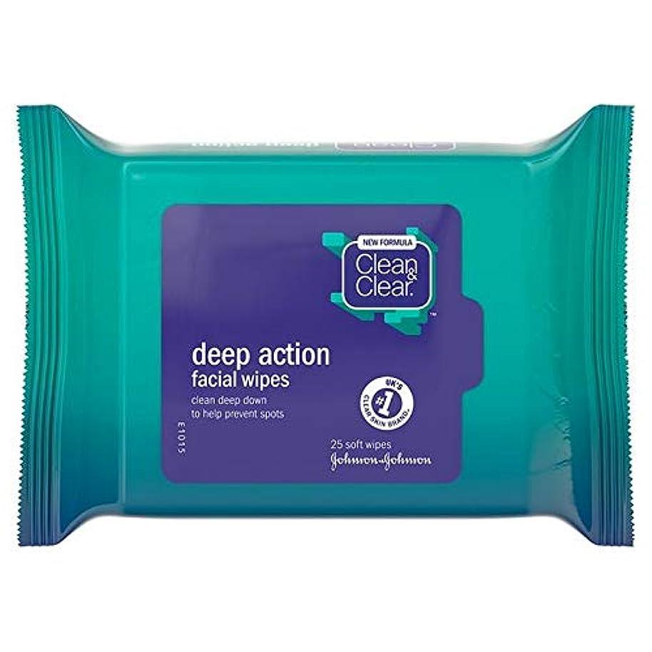 枕貸す写真撮影[Clean & Clear ] クリーン&クリアな顔はパックあたり25ワイプ - Clean & Clear Face Wipes 25 per pack [並行輸入品]