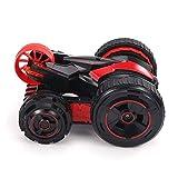 Ycco 新しいユニークなおもちゃラジコンリモートコントロールカーフリップウイリーRC 4WD両面360°回転および2、3、4または5輪の子供のための車のおもちゃを運転するフリップ付きフリップ - 屋内/屋外 - RTR (Color : Silver)