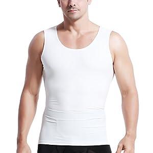 筋肉革命 コンプレッションウェア 加圧タンクトップ 加圧インナー メンズ お腹引締め kaatutankL白