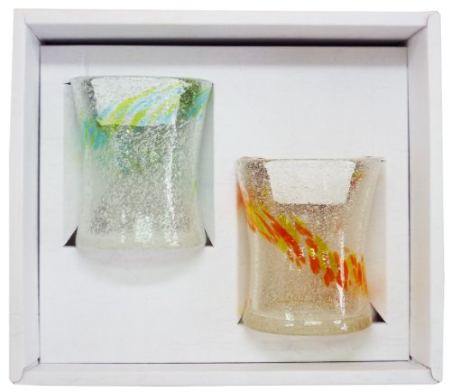 もっと沖縄プロジェクト リップルミニグラス (水/緑・オレン...