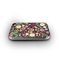 ビーガン生果物野菜 携帯ミラー 手鏡 化粧鏡 ミニ化粧鏡 3倍拡大鏡+等倍鏡 両面化粧鏡 角型 携帯型 折り畳み式 コンパクト鏡 外出に 持ち運び便利 超軽量 おしゃれ 9.8X6.6CM