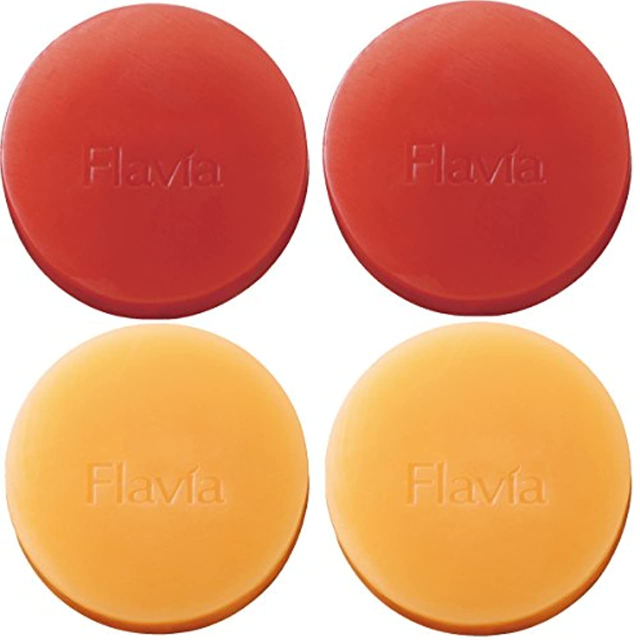 履歴書ツイン導入するフォーマルクライン 薬用 フラビア ソープ 4個セット(朝?夜用各2個) 洗顔 石けん