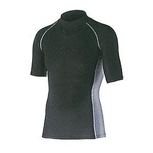 おたふく手袋 ボディータフネス 冷感・消臭 パワーストレッチ 半袖ハイネックシャツ JW-624 ブラック L