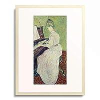 フィンセント・ファン・ゴッホ Vincent Willem van Gogh 「Marguerite Gachet at the piano」 額装アート作品