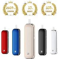 加熱式 電子 タバコ 新型 電子たばこ vape 交換機 33本連続吸引 2900mAh大容量 USB充電式 20秒予熱+350秒加熱 禁煙 サポート デバイス 携帯便利 振動通知 加熱保護 DOUBLEZ (ゴールド)