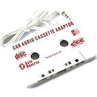 DCMA スマホ用品 カセット・テープ 変換 イヤホンジャック コネクタ MP3 音楽プレイヤー 携帯 スマートフォン iPhone 1点 ホワイト