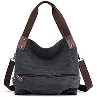 Hiigoo Women's Canvas Totes Bag Shoulder Bag Handbags Messenger Bag Crossbody Bag Big Shopping Bags