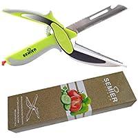 semierキッチンハサミはさみFood Chopper Cleverフルーツカッターナイフ内蔵カッティングボード付き