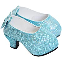 My Brittany's Blue Back Bow High Heel Shoes For American Girl Dolls