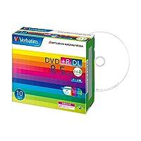 三菱ケミカル バーベイタム データ用DVD+R DL 8.5GB 8倍速 ワイドプリンターブル 5mmスリムケース DTR85HP10V1 1パック(10枚) (×2セット)
