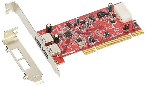 USB3.0R-P2-LPPCI インターフェースボード/USB3.0×2ポート/PCI/NEC社製μPD720202 玄人志向