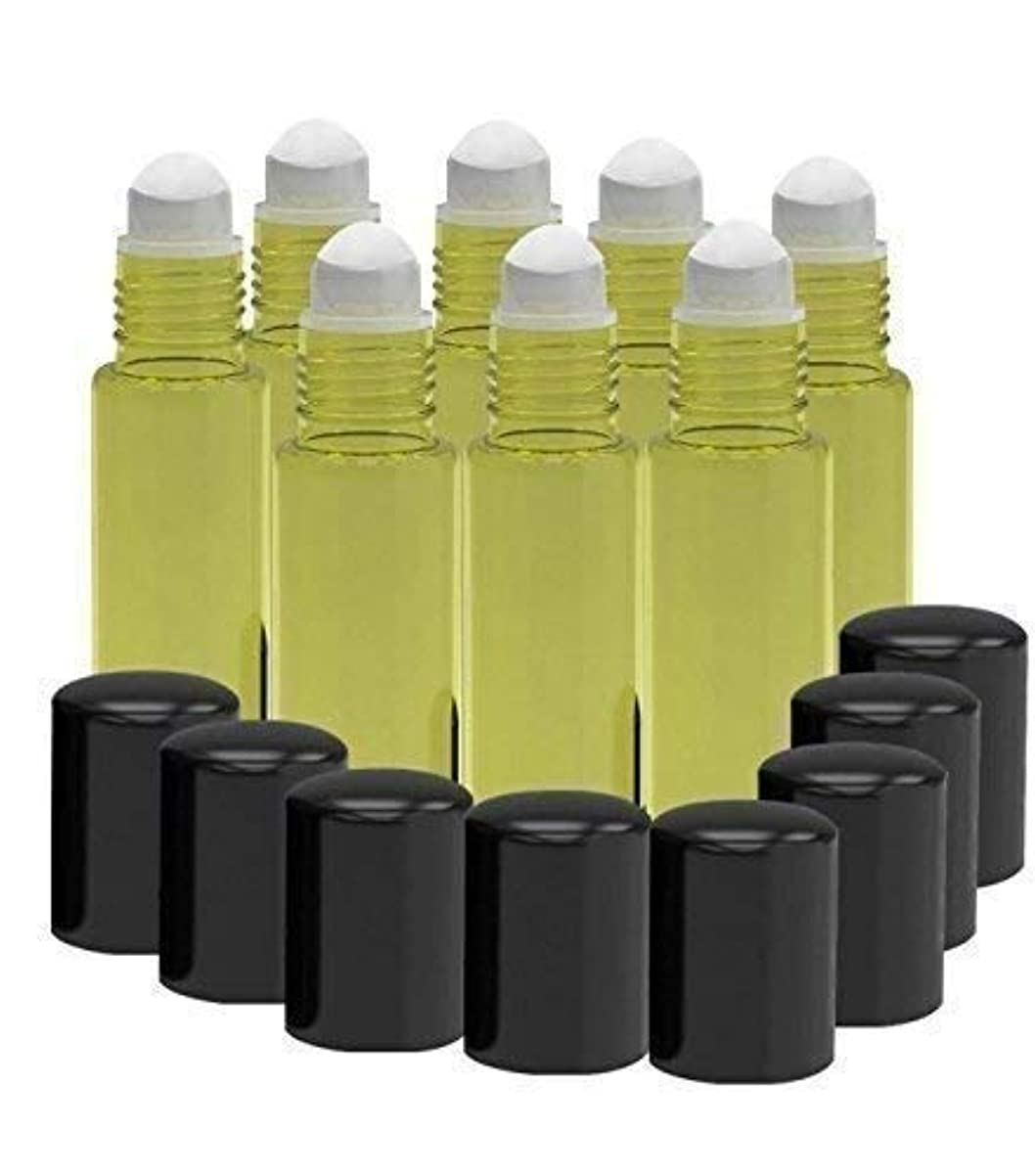 ベッドを作るファンタジー感心する8 Pack - Essential Oil Roller Bottles [PLASTIC ROLLER] 10ml Refillable Glass Color Roll On for Fragrance Essential...