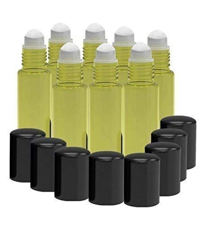 埋め込むに付ける自動化8 Pack - Essential Oil Roller Bottles [PLASTIC ROLLER] 10ml Refillable Glass Color Roll On for Fragrance Essential...