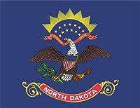 KIWISTAR ステッカー - North Dakota Bismarck ノースダコタビスマルク - 5つのサイズで利用可能アメリカの状態バンパーステッカーステッカー