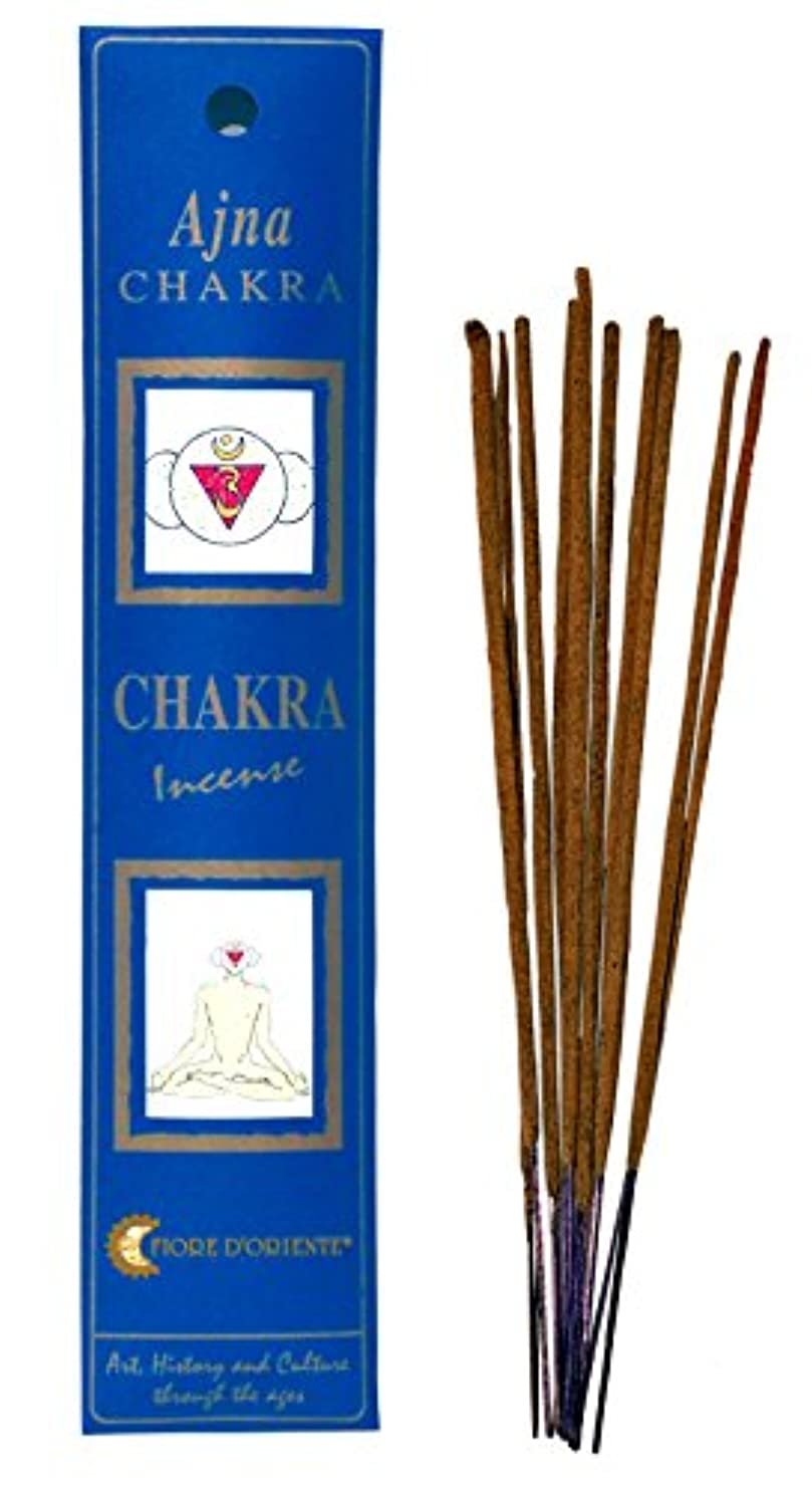 注入重量ほこりFiore d 'oriente 6th Chakra Incense Ajna 8のスティックインディゴパッケージ