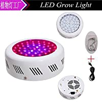 YZL / 50W LED Grow Lights /レッドandブルーファームガーデニングphotosyntheticフィルライト/省エネ植物ランプ、ホワイトシェルレッドandブルー8: 1