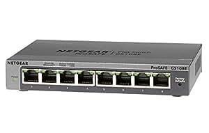 NETGEAR アンマネージプラススイッチ ギガ8ポート 管理機能付 無償永久保証 GS108E-300JPS